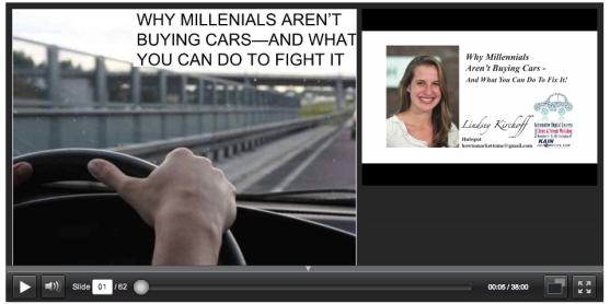 Millennials, cars