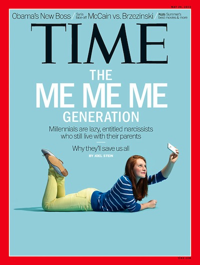 the me me generation time magazine cover